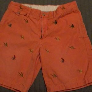 Shorts with fishing lure design